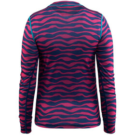 Craft Mix and Match Koszulka kolarska, długi rękaw Dzieci różowy/niebieski